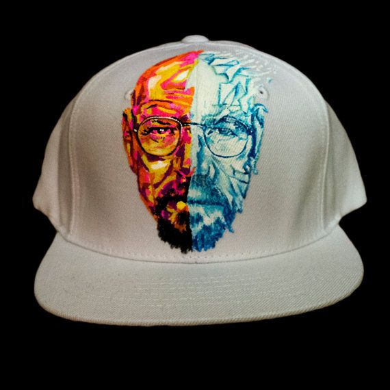 Lids Custom Hats >> Breaking Bad Hand Painted Lids Snapback Hat By Indielane On Etsy