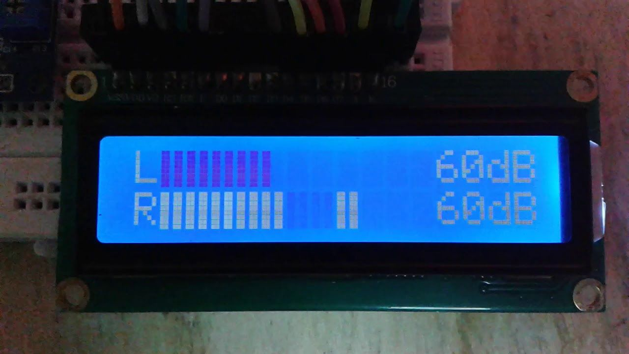 modify the code program stereo vu meter sketch using arduino