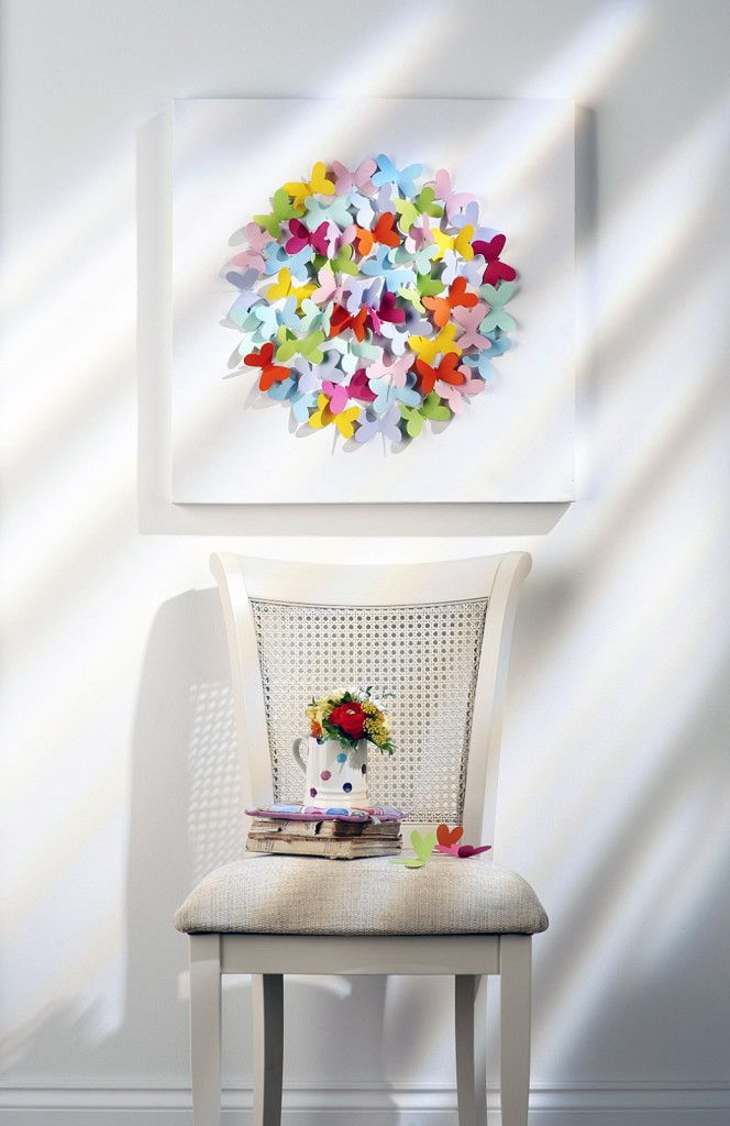 How To Make Butterfly Canvas Wall Art