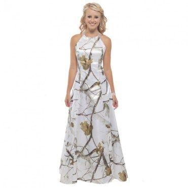 32 Winter White Camo Wedding Dress | Camo wedding dresses, White ...