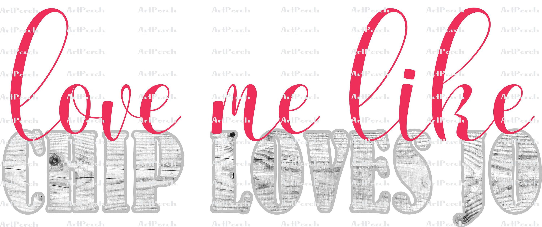 Download Love me like Chip Loves Jo Shiplap Background Valentines ...