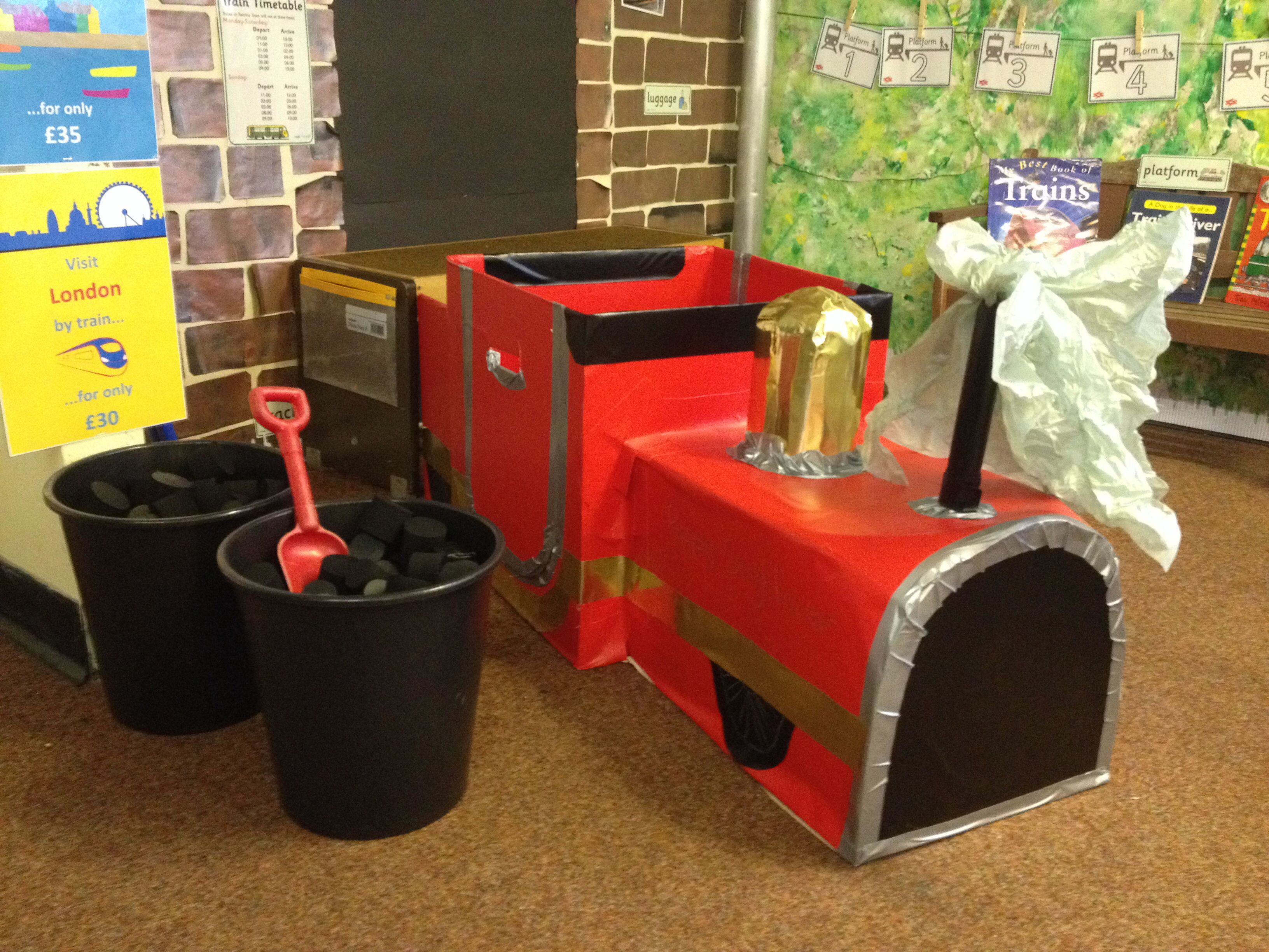 train station role play early years classroom pinterest role play plays and dramatic play. Black Bedroom Furniture Sets. Home Design Ideas