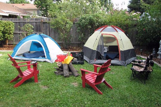 How About A Camping Party In The Garage Set Up Tents Sleep