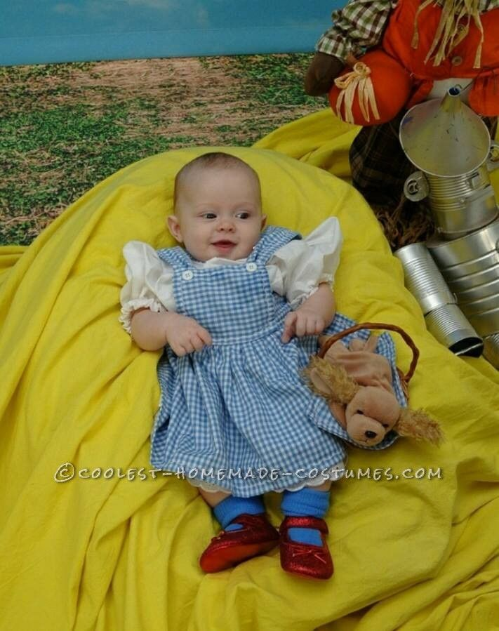 baby dorothy costume from the wizard of oz coolest halloween costume contest