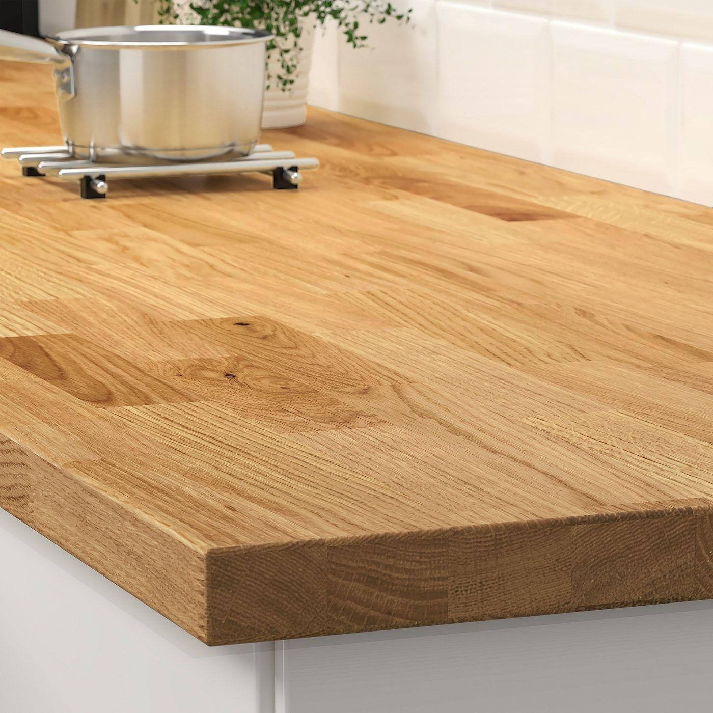 Karlby Arbeitsplatte Eiche Furnier Ikea Osterreich In 2020 Karlby Countertop Ikea Wood Countertops Countertops