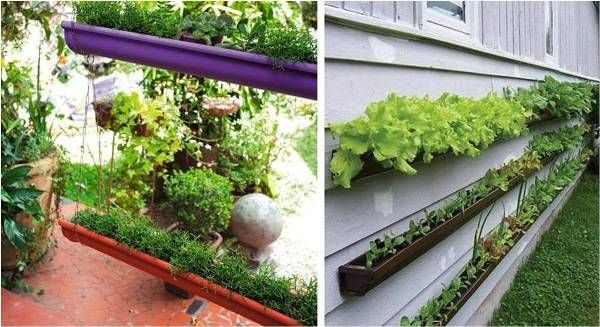 Maybe something like this with these gutter pipes?