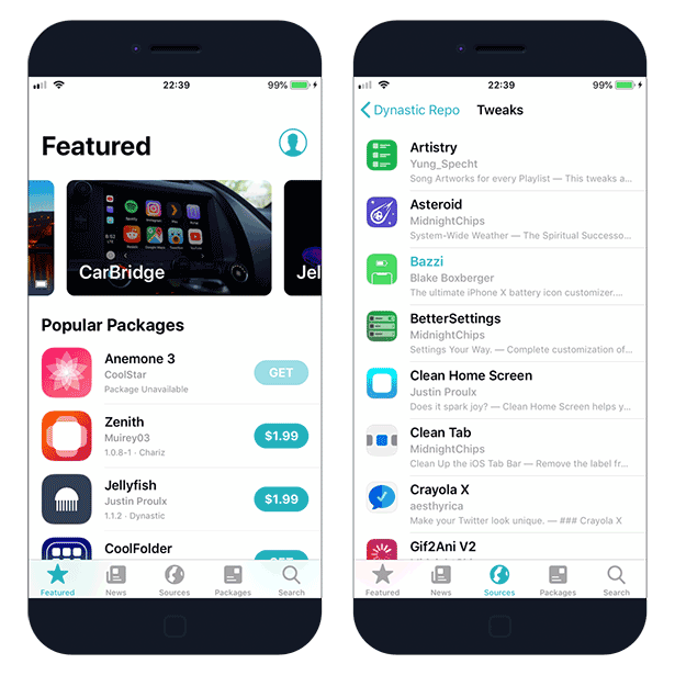 Sileo Package Manager For Ios 12 Device Management Packaging Management
