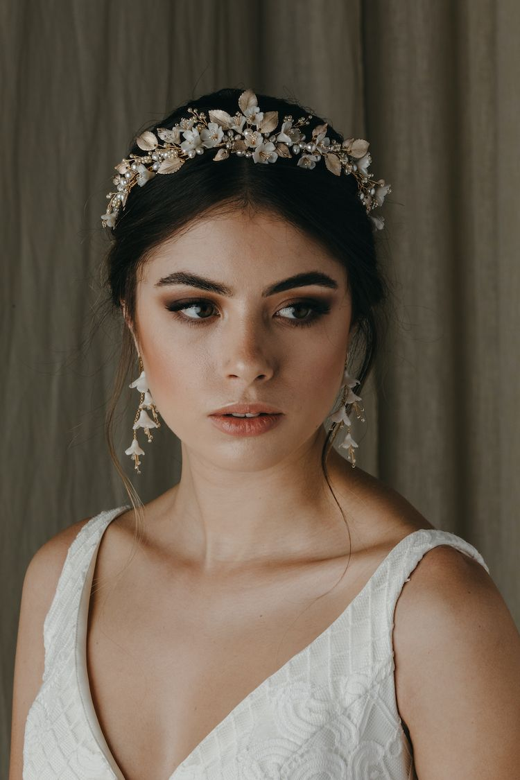 Dreamy and romantic bridal hair