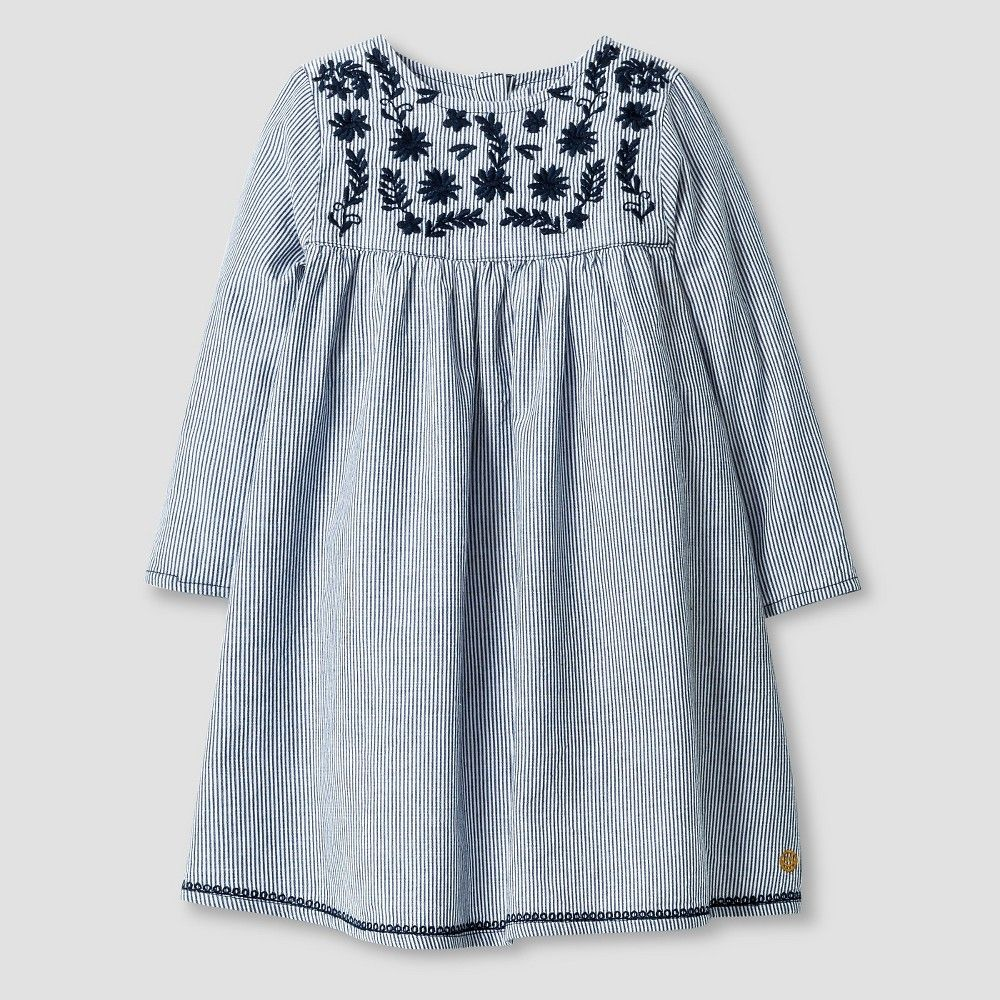 Happy by pink chicken baby girlsu stripe dress navy m infant