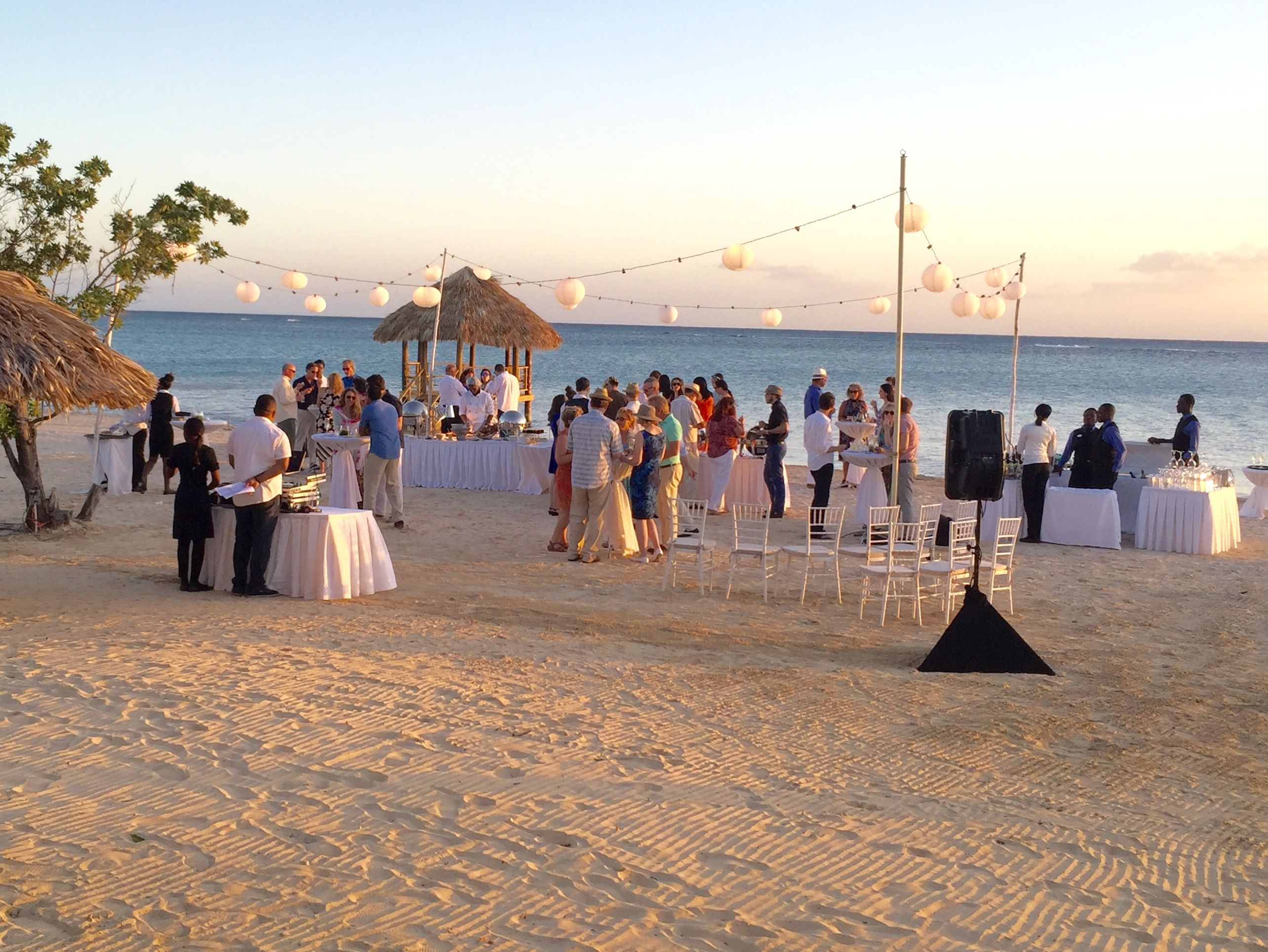 Reception on the beach at sandals south coast formerly for How to start planning a destination wedding