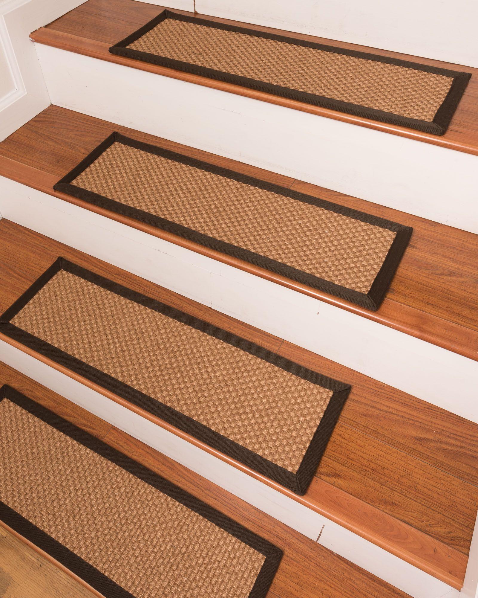 Best Brighton Sisal Bronze Fudge Border Handmade Stair 400 x 300