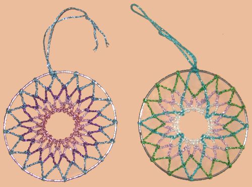 Beaded Dream Catchers Patterns Dream Catchers or Tree Decorations in variations of coloured 18