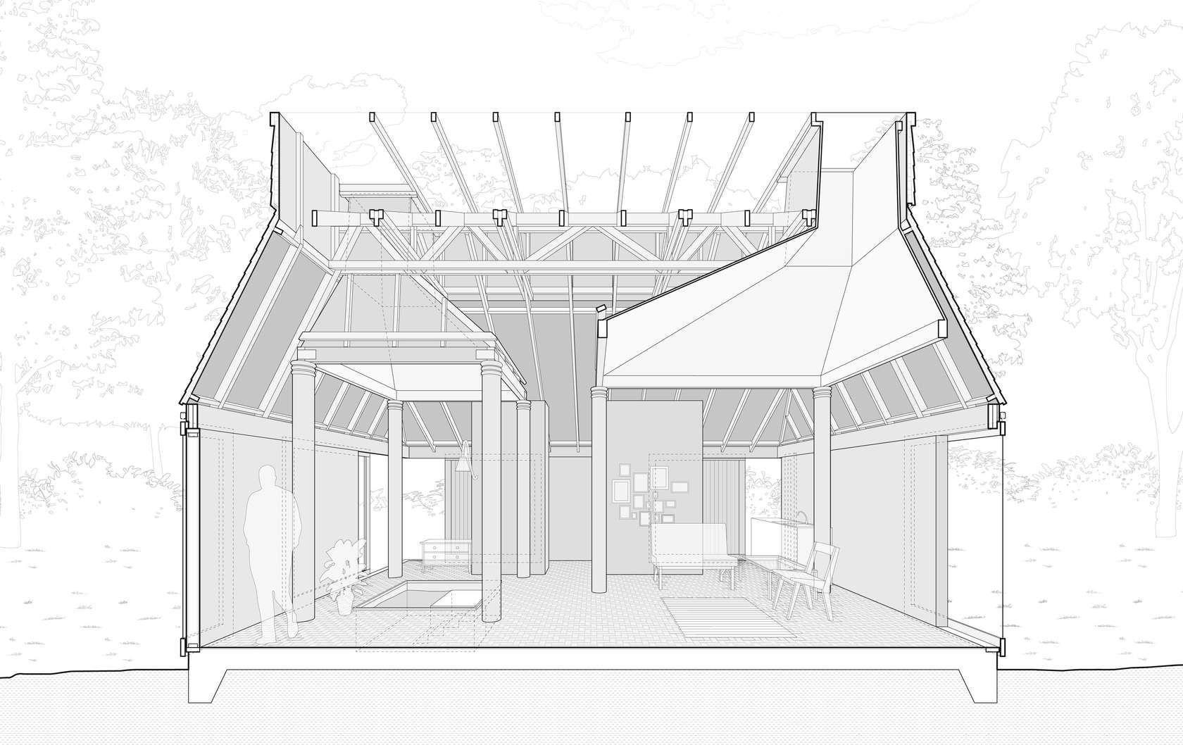 Charles Moore Orinda House Dibujos De Arquitectura Arquitectura Arquitectonico