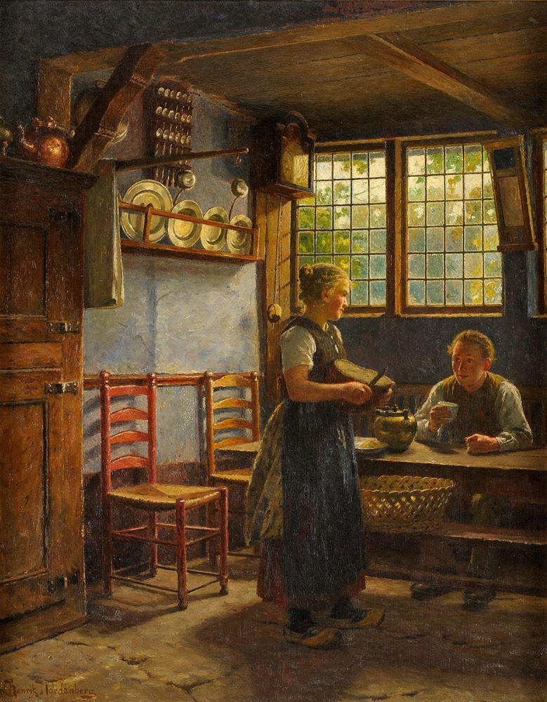 Nordenberg, Henrik, (1857-1928), Kitchen Interior