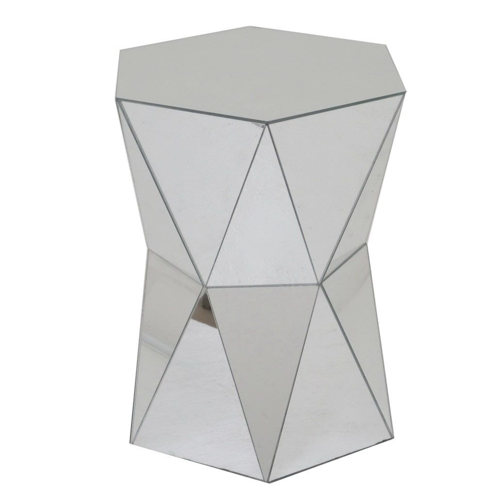Three Hands Mirrored Accent Table