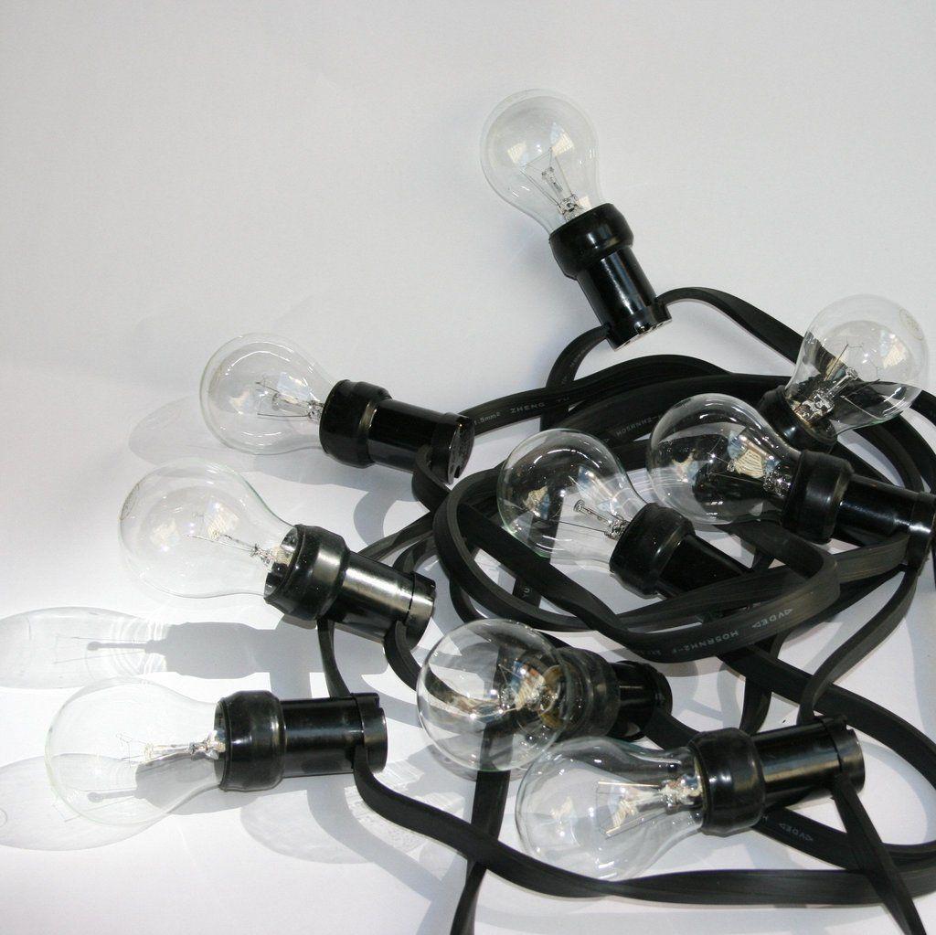 Højmoderne DORA lamper Lyskæde kulørt + 10 pære   Haven   Lyskæder, Lys og Lamper KN-94