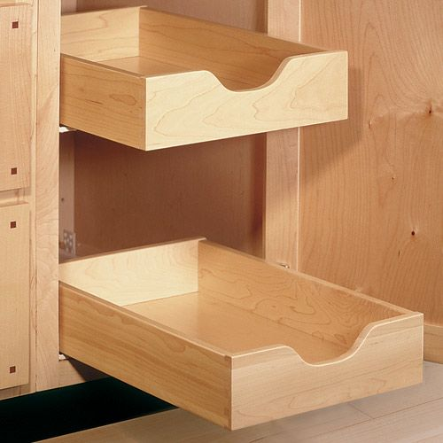 Blum SOLO No-Profile 3/4 Extension Slides for Face Frame Cabinets For  fruit and veg baskets?