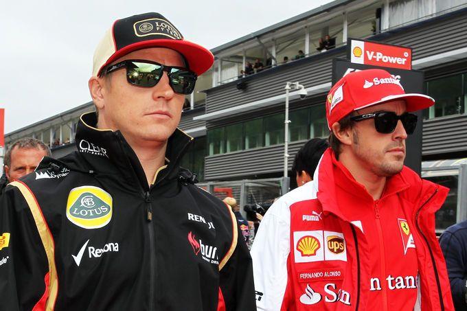 Alonso Raikkonen - GP Belgium 2013
