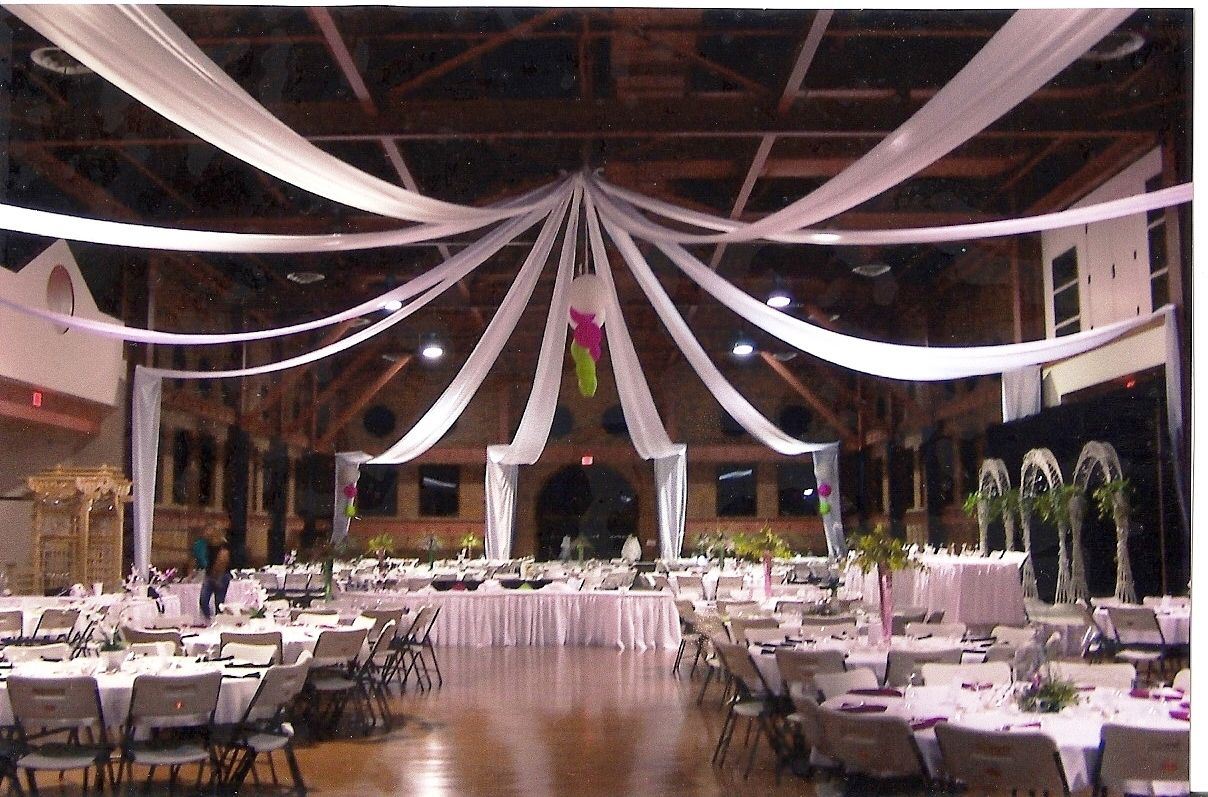 * thin yet dramatic white ceiling draping | Tent ...