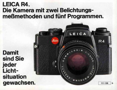 Leica R4 instruction manual, Leica R4s, Leica R4 MOD P instruction - instruction manual