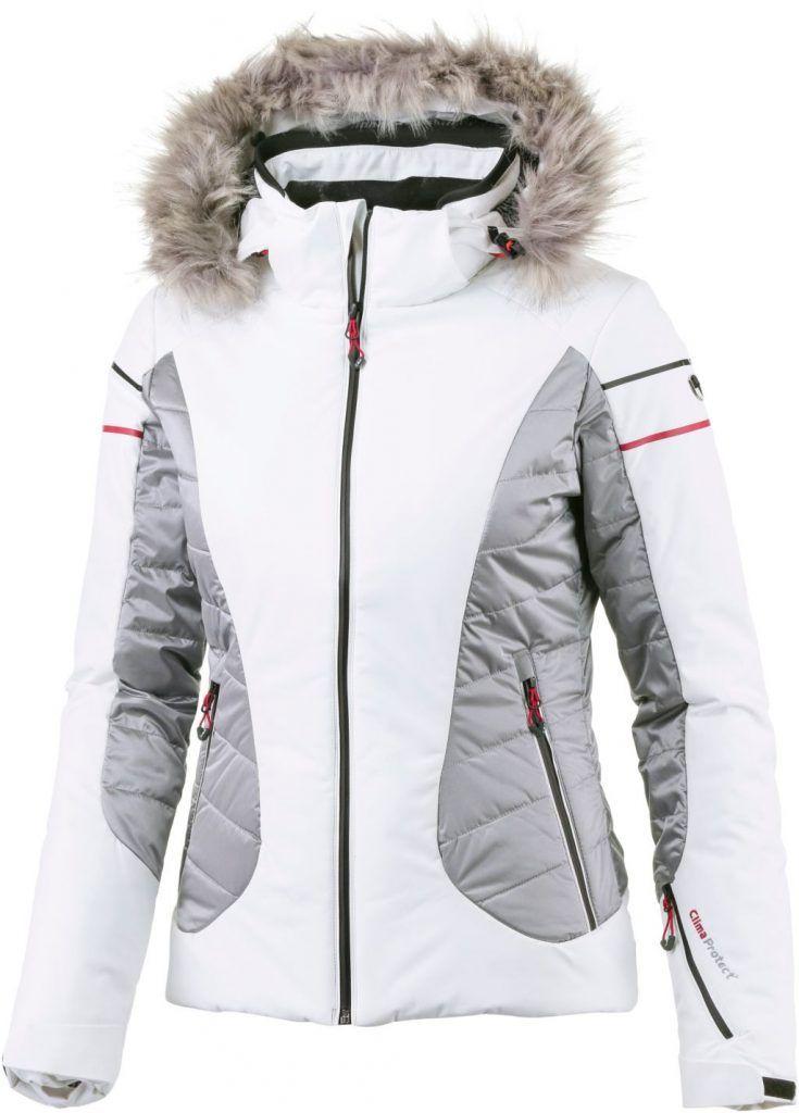 47ea24434c  CMP  Skijacke  Damen  weiß grau Ski Wear