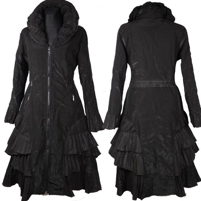 Mantel schwarz damen 48