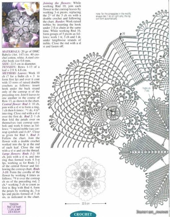 Free háčkovanie Pattern - One Piece Oval Obrus z | doilies number ...