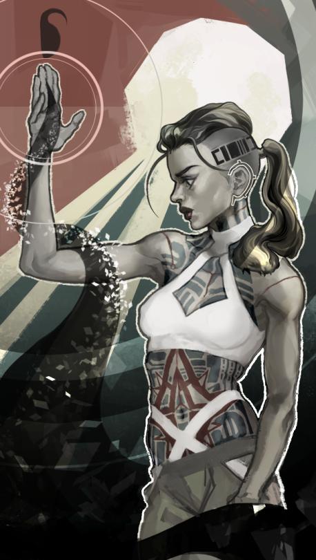 GINIhaketon-pretend-animator: ginihaketon: Mass Effect Tarot Card JACK, THE MOON