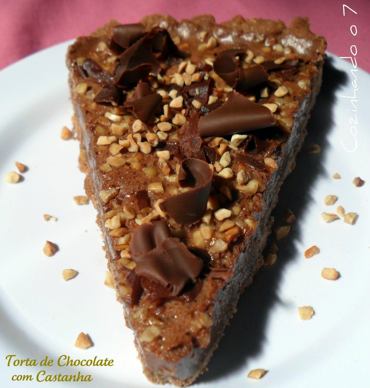 Cozinhando o 7: Torta de Chocolate com Castanha