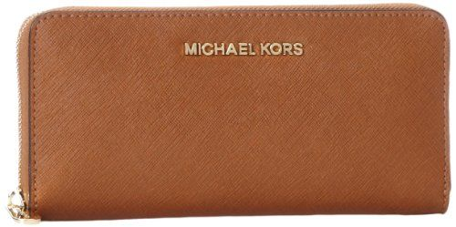18a44e877f5a MICHAEL Michael Kors Jet Set Saffiano Travel ZA Continental Luggage One Size      You can find out more details at the link of the image.