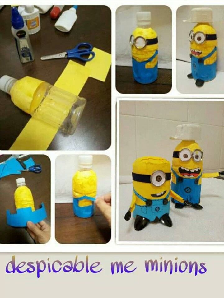 Diy bottle minions upcycled plastic bottle crafts pinterest diy bottle minions solutioingenieria Gallery