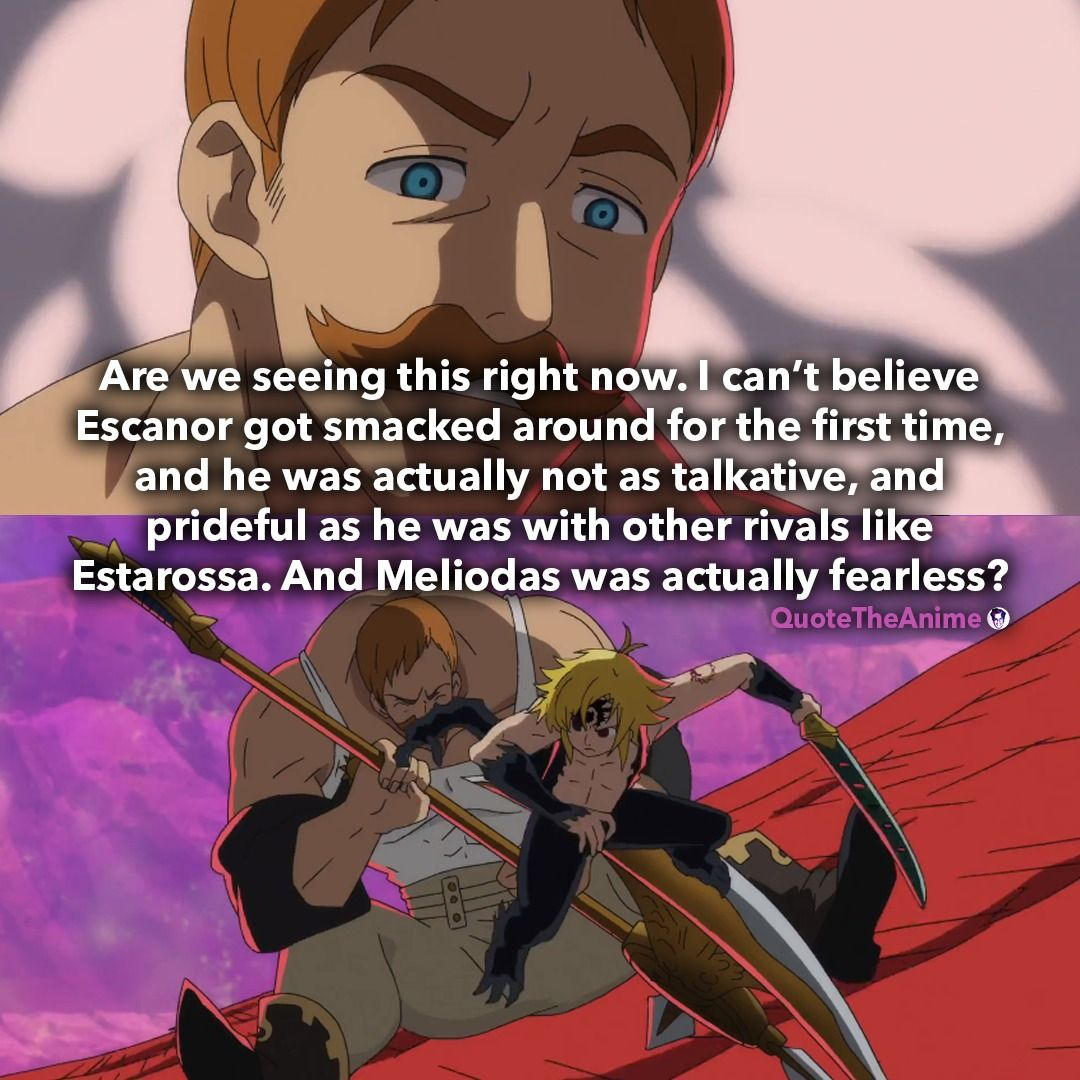 Escanor vs. Meliodas Seven deadly sins, Recent anime, Oh