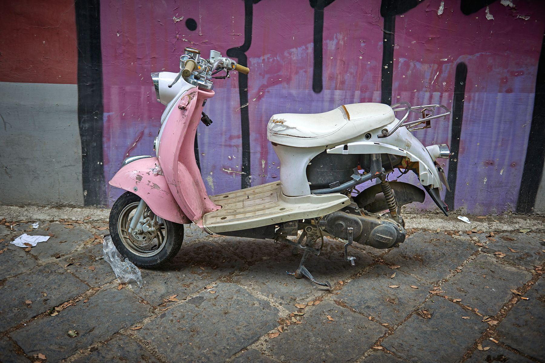 El scooter rosa