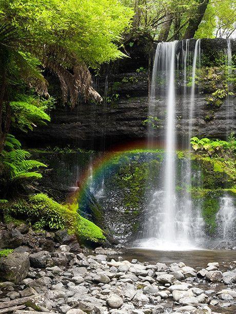 Taste The Rainbow 134 Vinyl Wall Decor Photo Backdrop Rainbow Waterfall Waterfall Backdrop Amazing Nature