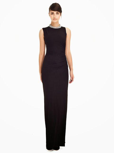Yakasi Tasli Abiye Siyah Abiye Uzun Abiye 2014 Abiye Modelleri Ipekyol Siyah Abiye Elbise Uzun Elbise