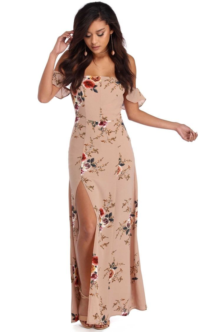Taupe floral breeze maxi dress breeze taupe and maxi dresses