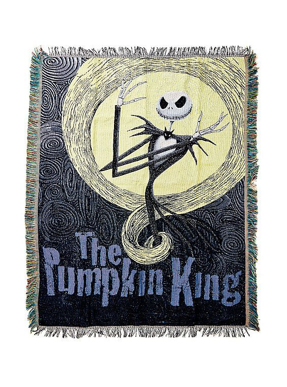 The Nightmare Before Christmas Pumpkin King Woven Tapestry Throw