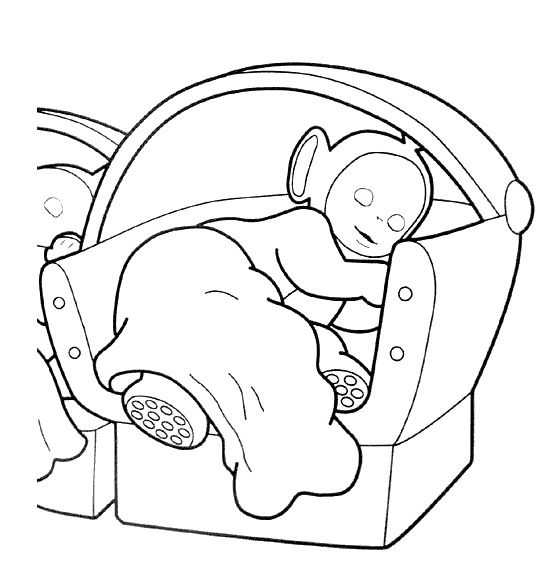 Teletubbies Coloring Book Kids Fun Com: Teletubbies Sleeping Coloring For Kids