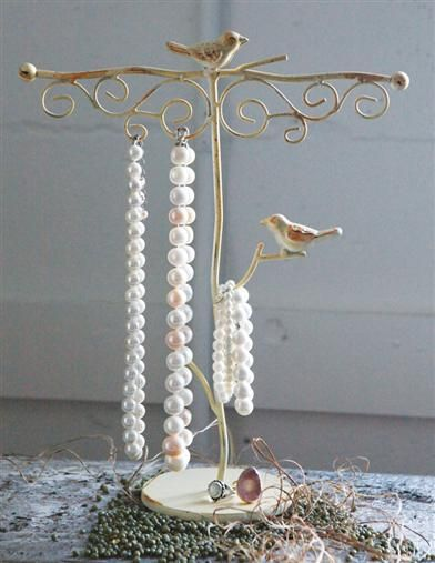 WOODLAND WREN JEWELRY TREE - Jewelry Organizer. Hang your necklaces and bracelets on this unique jewelry stand.