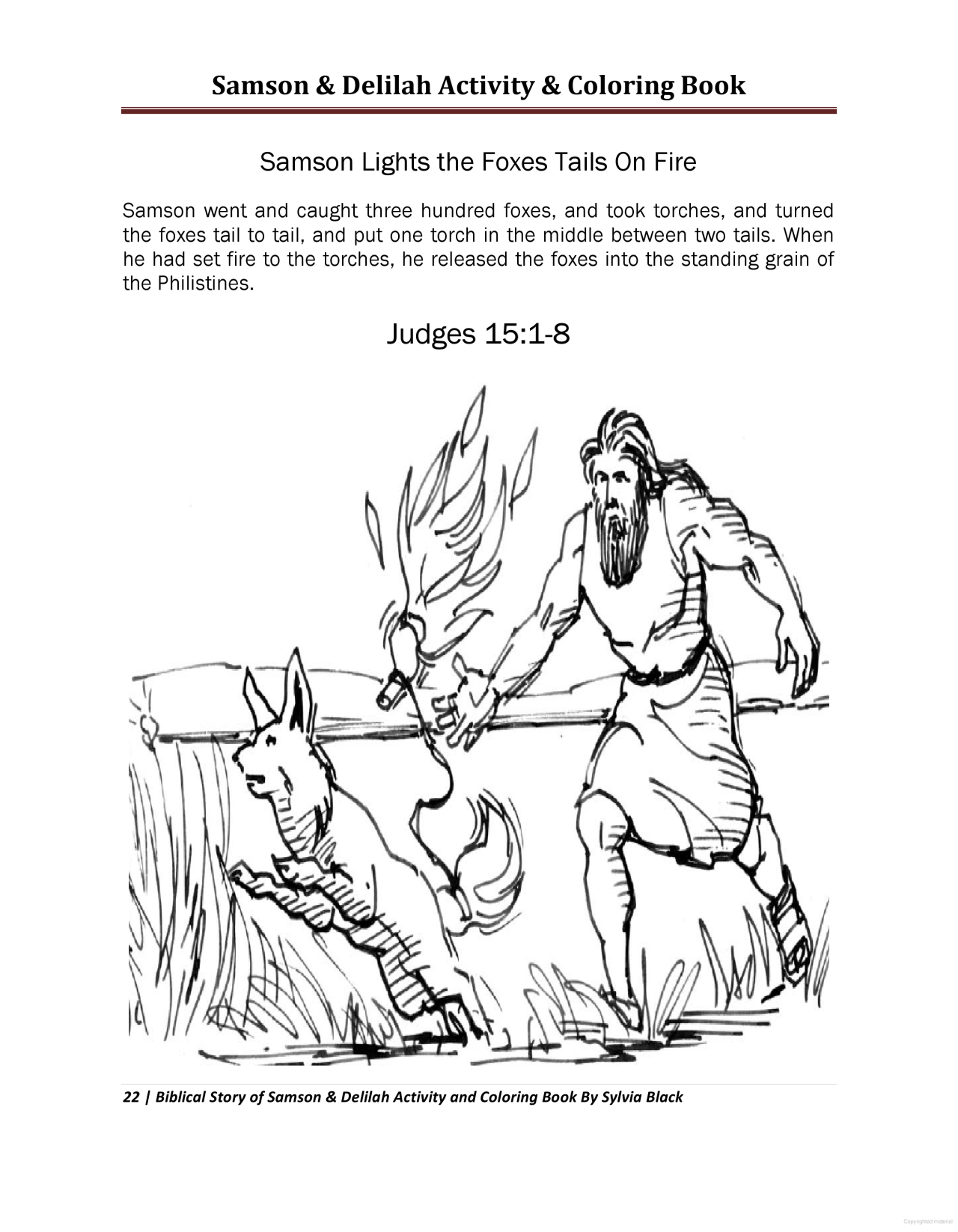 Samson And Delilah Activity Coloring Book Coloring Books Sunday School Coloring Pages Coloring Pages