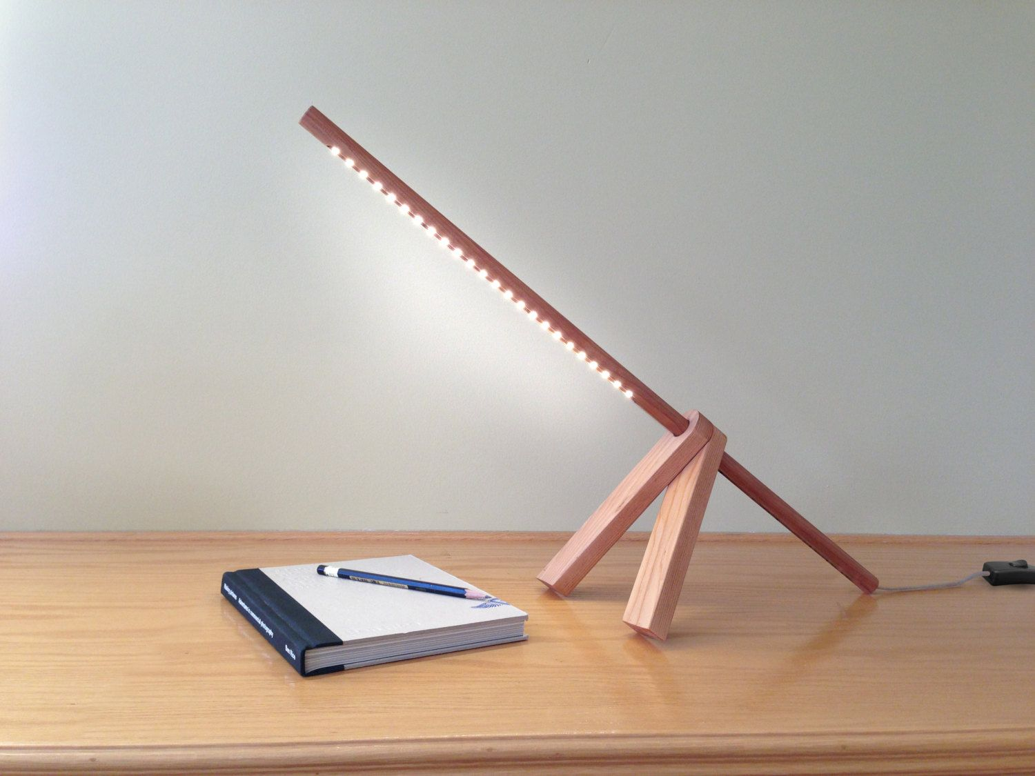 LED Wood Desk Lamp LED Lighting Wood Lamp Modern By Industlamp