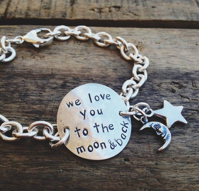 we love you to the moon and back bracelet