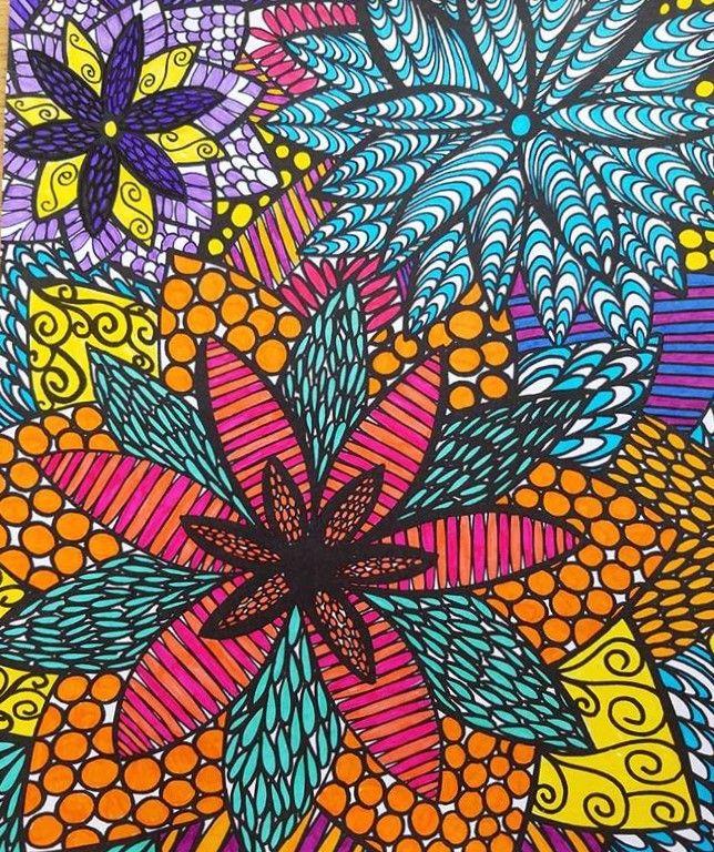 ColorIt Colorful Flowers Colorist Cheryl Stancik Adultcoloring Coloringforadults Adultcoloringpages