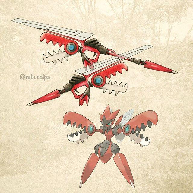 Pokeapon No. 212 - Mega Scizor. #pokemon #megascizor #scizor #launcher #pokeapon