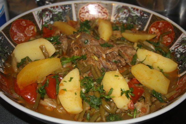 Tajine aux haricots verts loubia khadra cuisine du monde for Notre cuisine algerienne