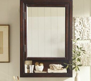 Seville Recessed Medicine Cabinet, Espresso finish traditional ...