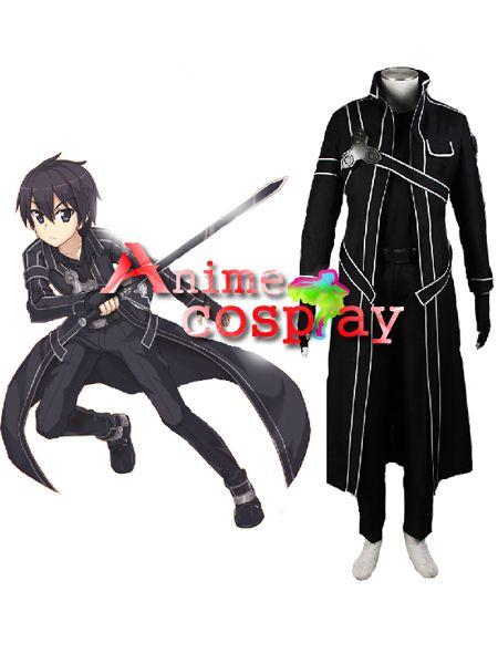 "Sword Art Online Cosplay Costume /""Black Swordsman/"" Kirigaya Kazuto Casual Outfit"