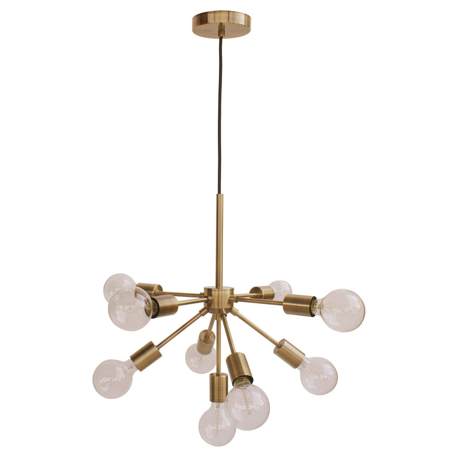 Menlo Asterisk Ceiling Light Brass Project 62 Ceiling Lights