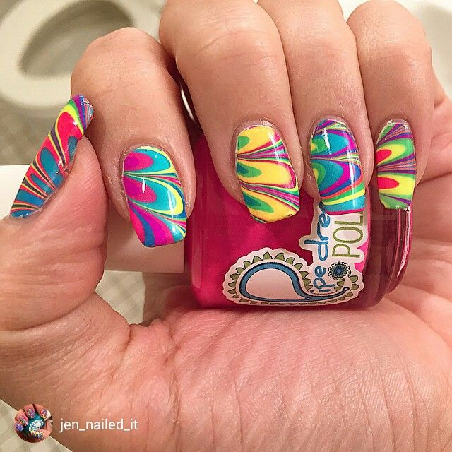 repost via @instarepost20 from @jen_nailed_it Finished product!! I will be posting lots of different pics from this manicure cause let's face it, it's amazing!!! Easiest #watermarble I ever done by far!  These polishes truly live up to the hype!! Thank you April @pipedreampolish you are queen of #unicornblood I used all of #pipedreampolish #anightinvegas creme #polish #happyhour #allin #vippass #onthelist #110degrees #lightofday and #highroller there will be a video to come!  #nail #nails…