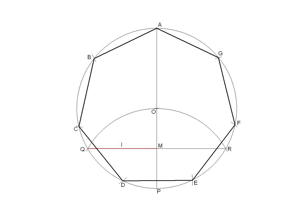 Heptagono Regular Inscrito En Una Circunferencia Geometria Basica Geometria Geometria Sagrada